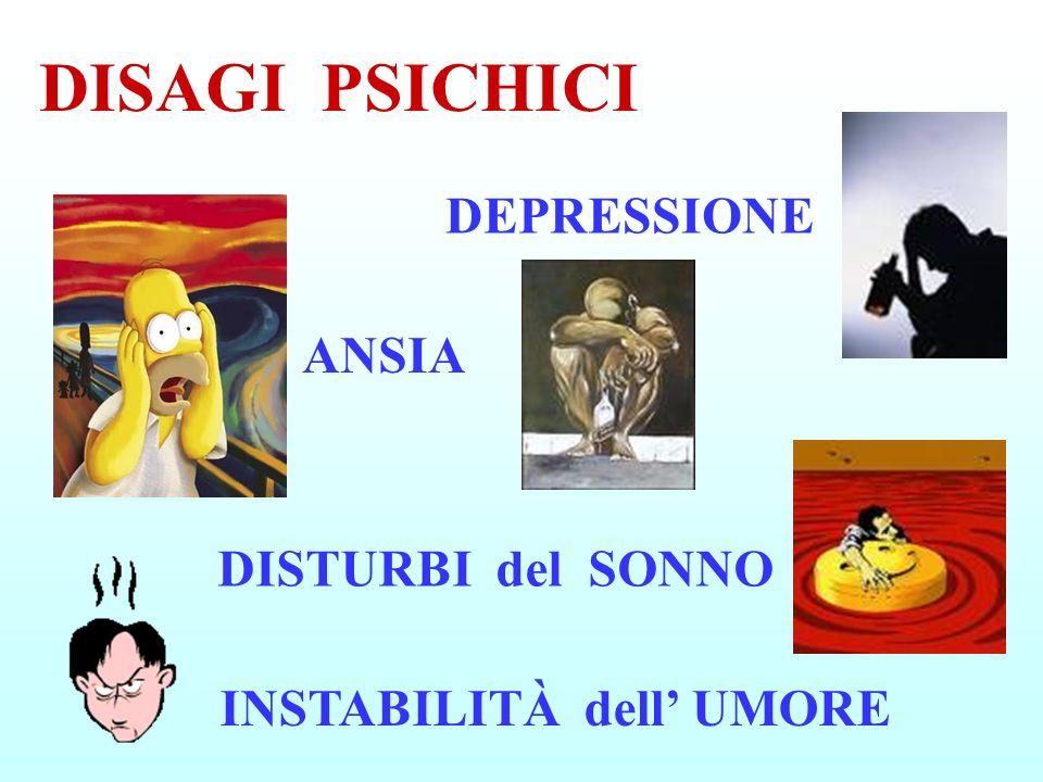 DISTURBI del SONNO ANSIA DEPRESSIONE INSTABILITÀ dell UMORE DISAGI PSICHICI