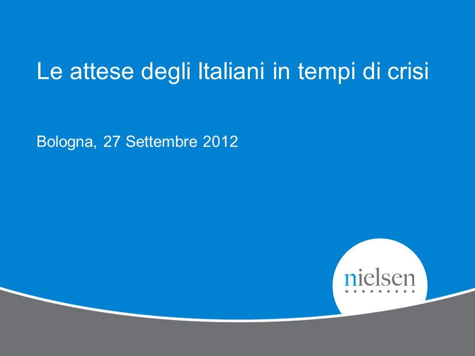 Le attese degli Italiani in tempi di crisi Bologna, 27 Settembre 2012
