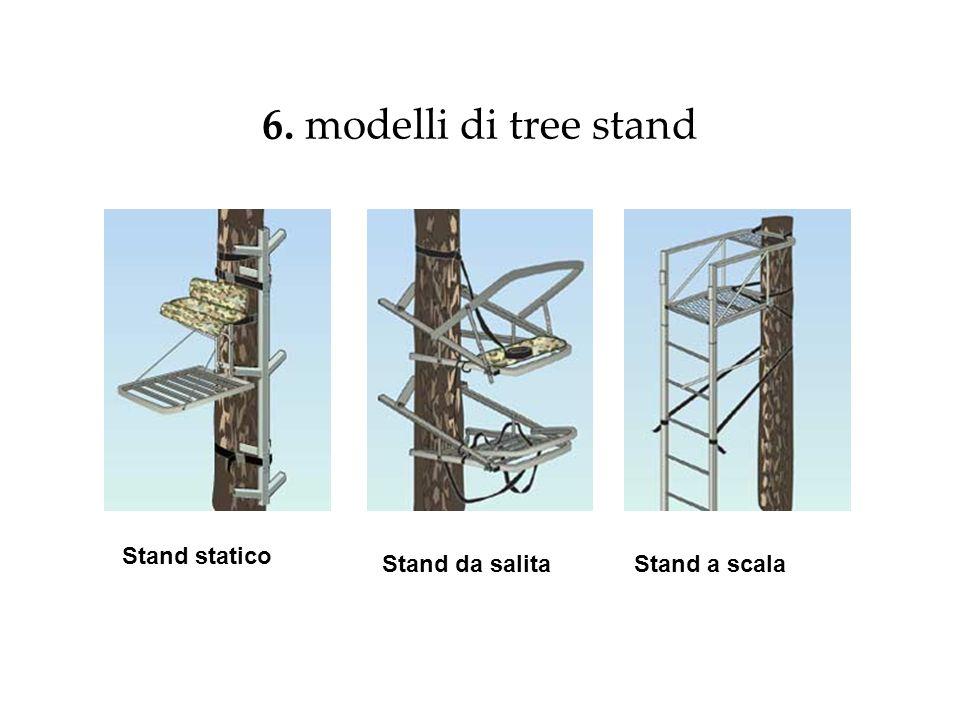 6. modelli di tree stand Stand statico Stand da salitaStand a scala