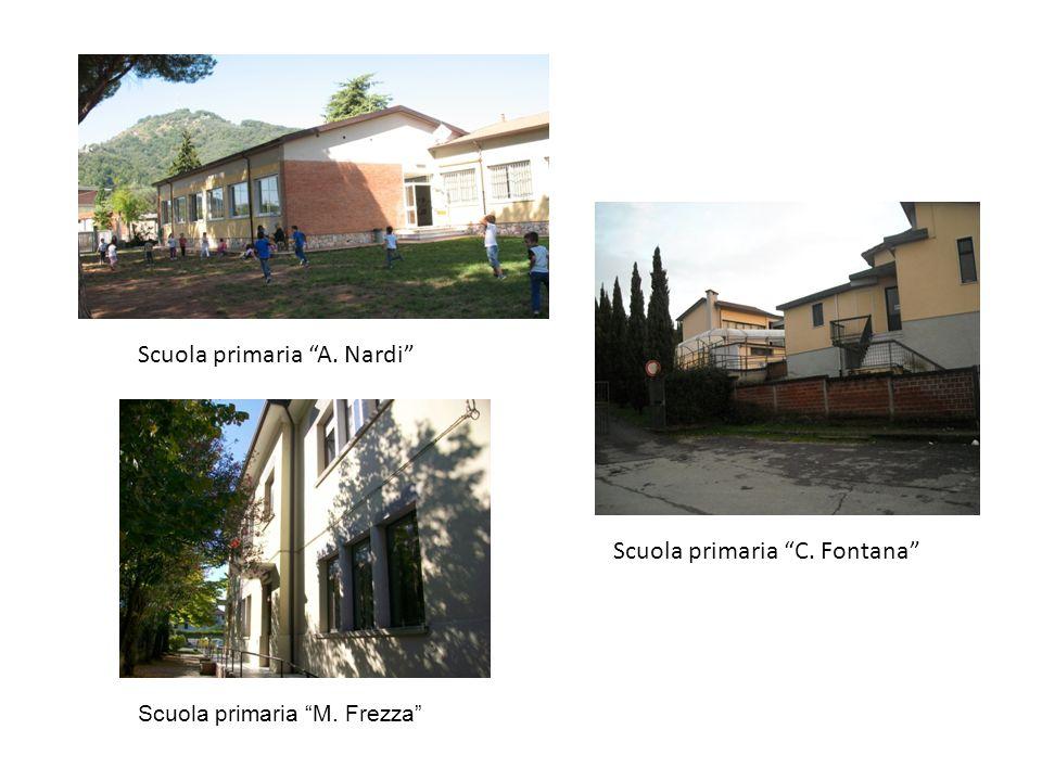 Scuola primaria A. Nardi Scuola primaria C. Fontana Scuola primaria M. Frezza