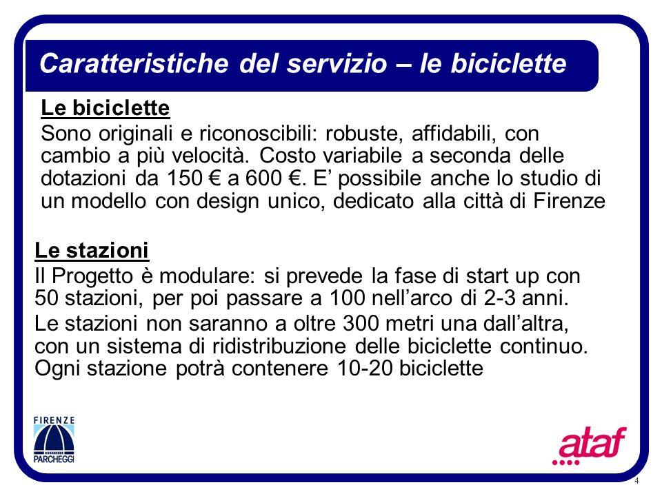 4 Le biciclette Sono originali e riconoscibili: robuste, affidabili, con cambio a più velocità. Costo variabile a seconda delle dotazioni da 150 a 600