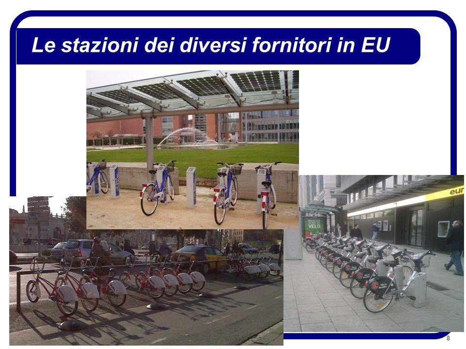 8 Le stazioni dei diversi fornitori in EU