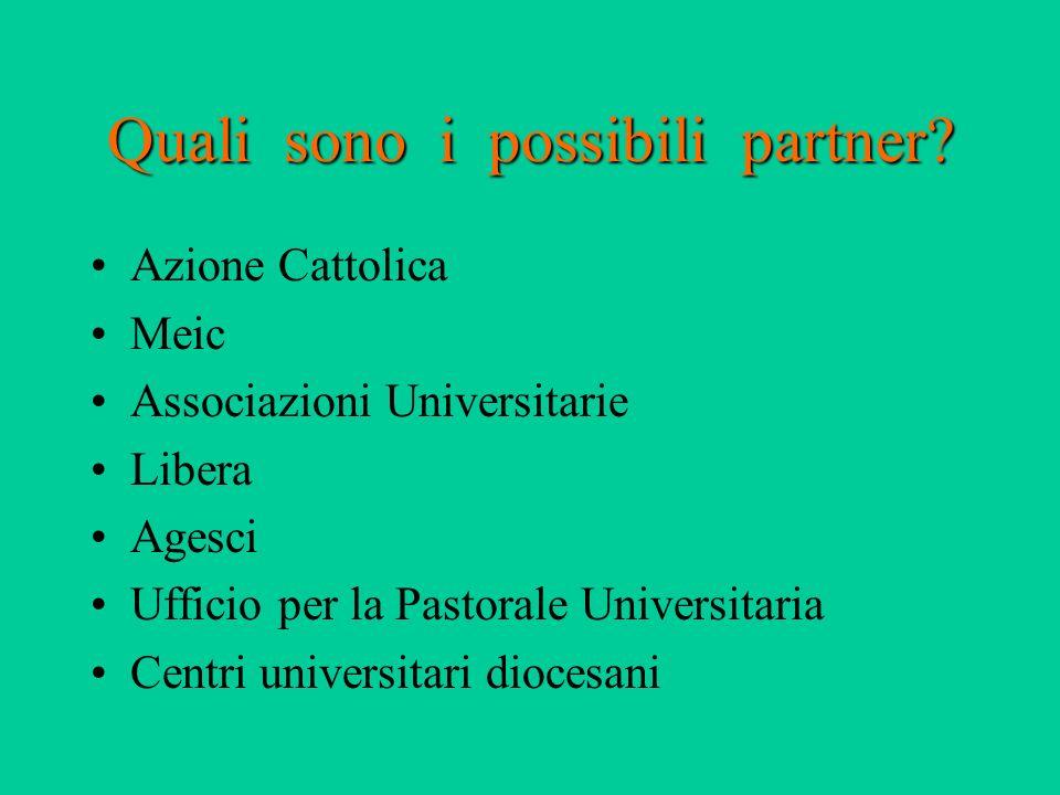 Quali sono i possibili partner.