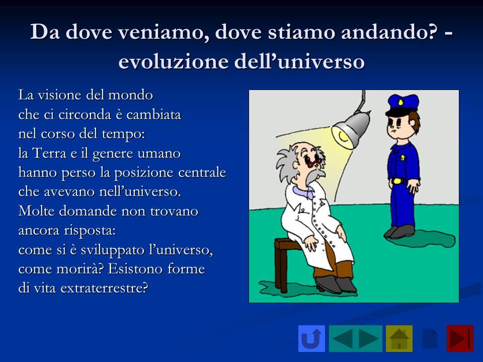 Da dove veniamo, dove stiamo andando? - evoluzione delluniverso La visione del mondo che ci circonda è cambiata nel corso del tempo: la Terra e il gen