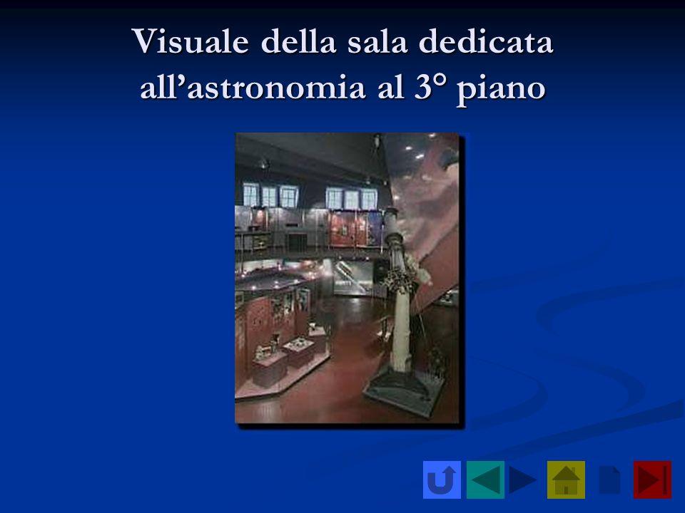 Visuale della sala dedicata allastronomia al 3° piano
