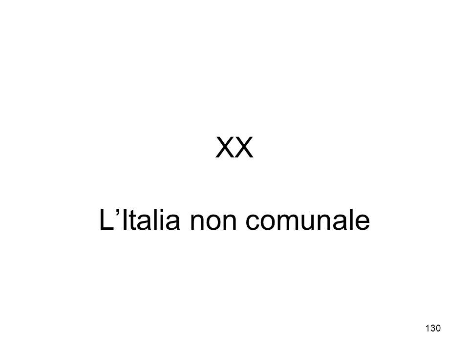 130 XX LItalia non comunale