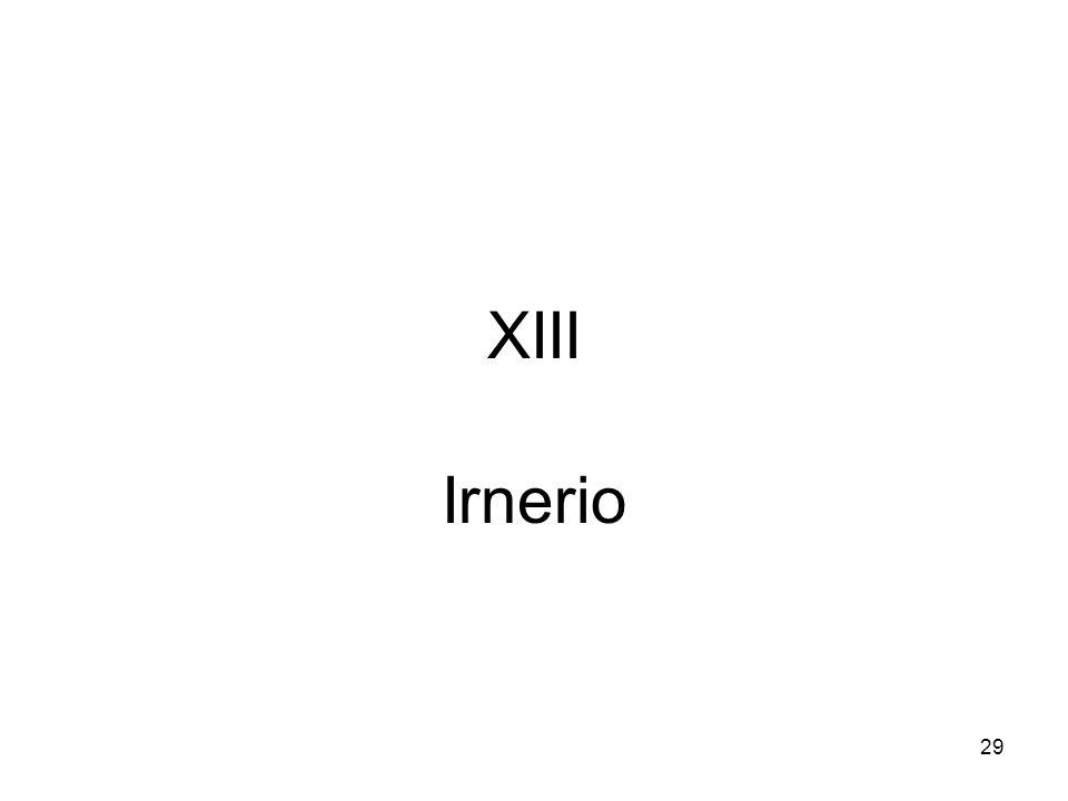 29 XIII Irnerio