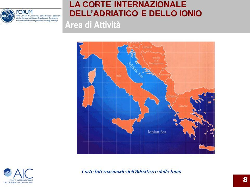 Corte Internazionale dellAdriatico e dello Ionio 8 Area di Attività LA CORTE INTERNAZIONALE DELLADRIATICO E DELLO IONIO