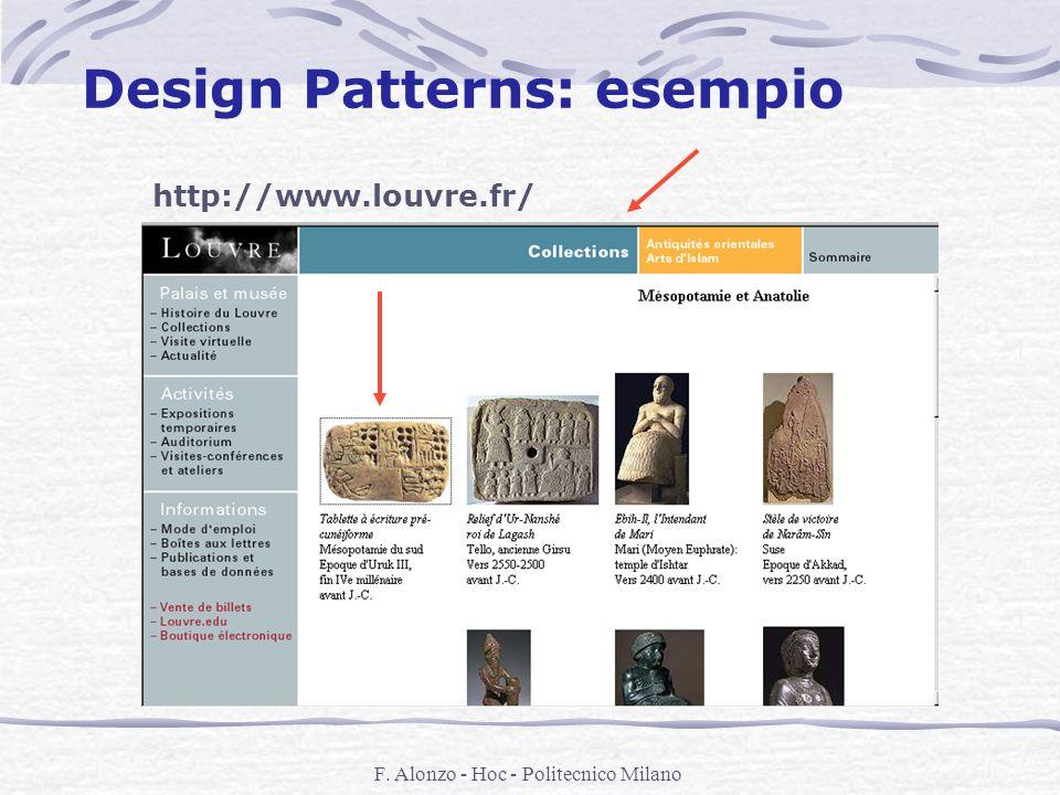 F. Alonzo - Hoc - Politecnico Milano Design Patterns: esempio http://www.louvre.fr/