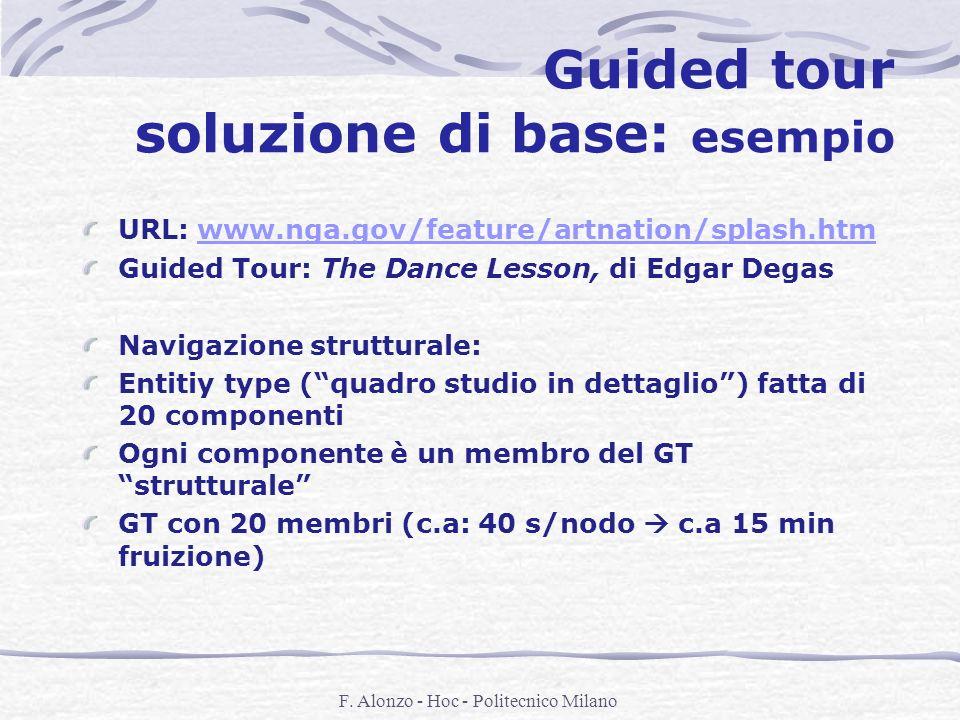 F. Alonzo - Hoc - Politecnico Milano Guided tour soluzione di base: esempio URL: www.nga.gov/feature/artnation/splash.htmwww.nga.gov/feature/artnation