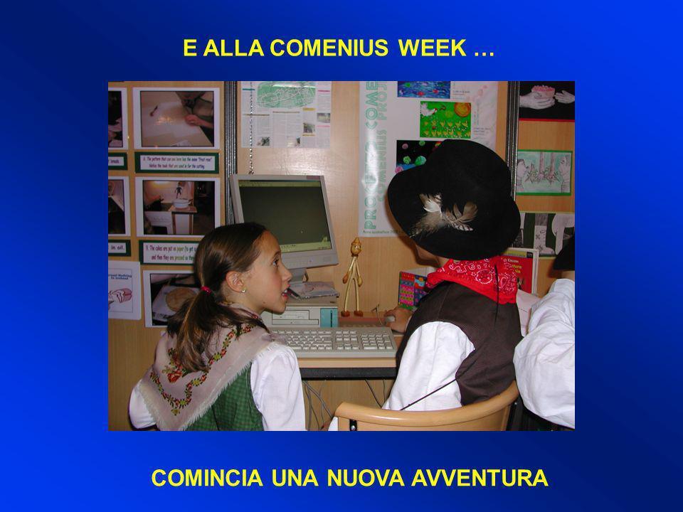 E ALLA COMENIUS WEEK … COMINCIA UNA NUOVA AVVENTURA