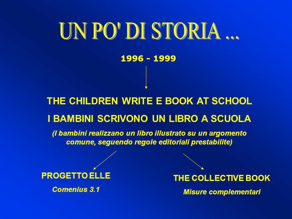 1996 - 1999 THE CHILDREN WRITE E BOOK AT SCHOOL I BAMBINI SCRIVONO UN LIBRO A SCUOLA (I bambini realizzano un libro illustrato su un argomento comune,