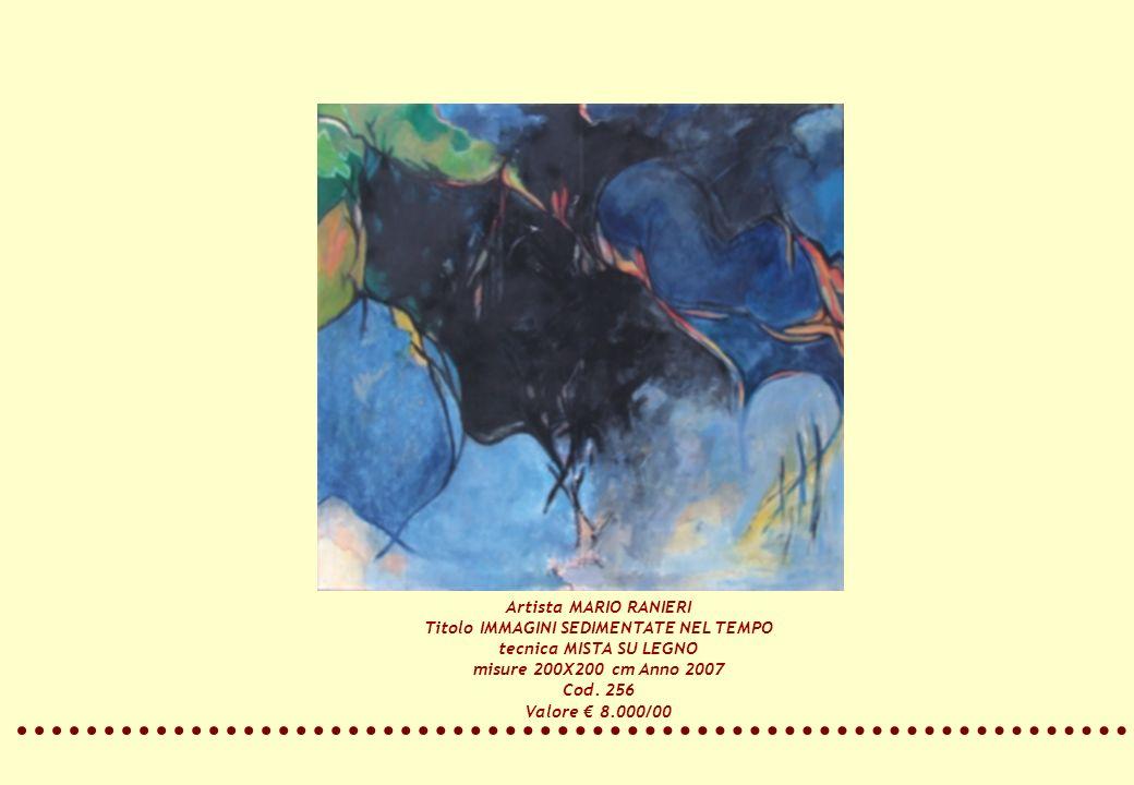 Artista MARIO RANIERI Titolo IMMAGINI SEDIMENTATE NEL TEMPO tecnica MISTA SU LEGNO misure 200X200 cm Anno 2007 Cod. 256 Valore 8.000/00