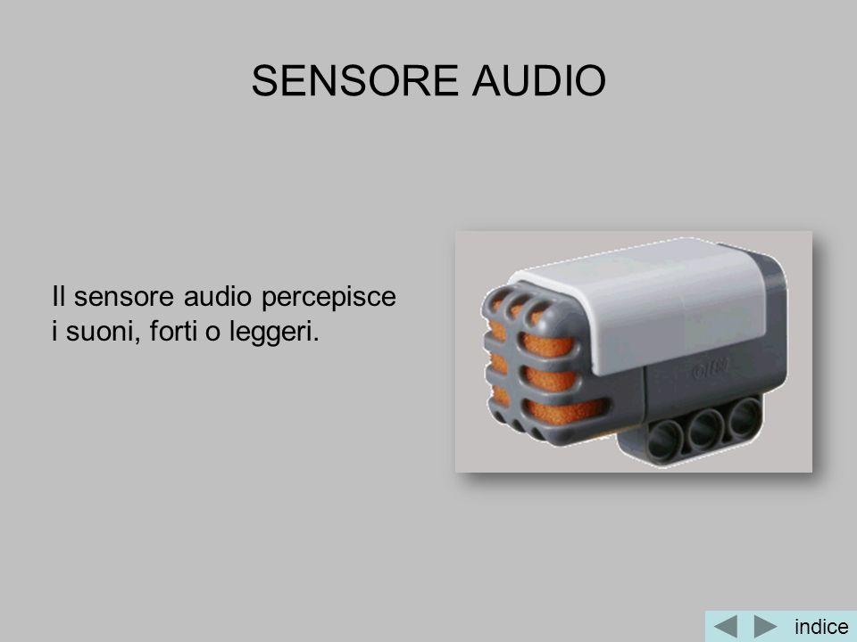 SENSORE AUDIO Il sensore audio percepisce i suoni, forti o leggeri. indice