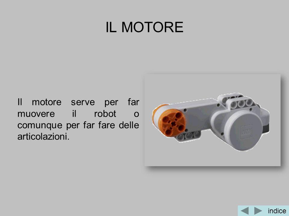 IL MOTORE Il motore serve per far muovere il robot o comunque per far fare delle articolazioni. indice