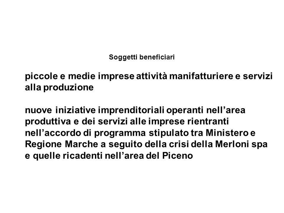 I Progetti finanziati devono essere ubicati nel territorio della Regione Marche Il finanziamento deve essere destinato esclusivamente: 1.