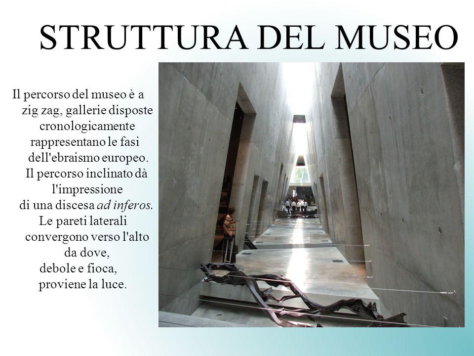 STRUTTURA DEL MUSEO Il percorso del museo è a zig zag, gallerie disposte cronologicamente rappresentano le fasi dell'ebraismo europeo. Il percorso inc