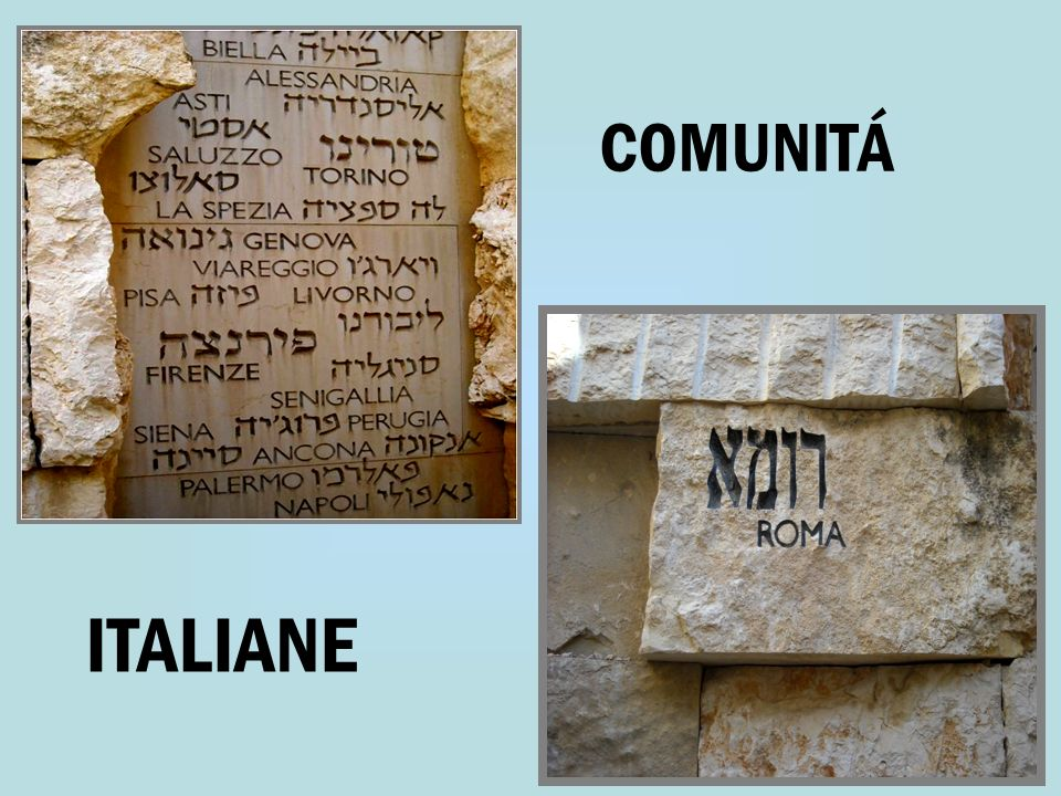 COMUNITÁ ITALIANE