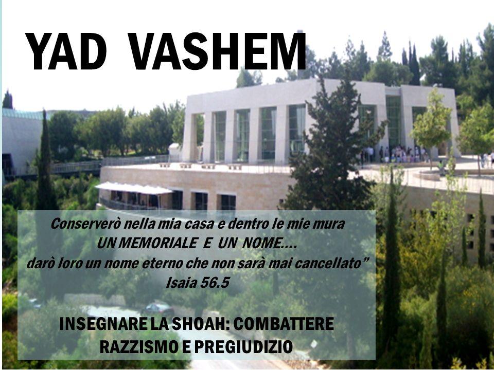 Conserverò nella mia casa e dentro le mie mura UN MEMORIALE E UN NOME…. darò loro un nome eterno che non sarà mai cancellato Isaia 56.5 INSEGNARE LA S
