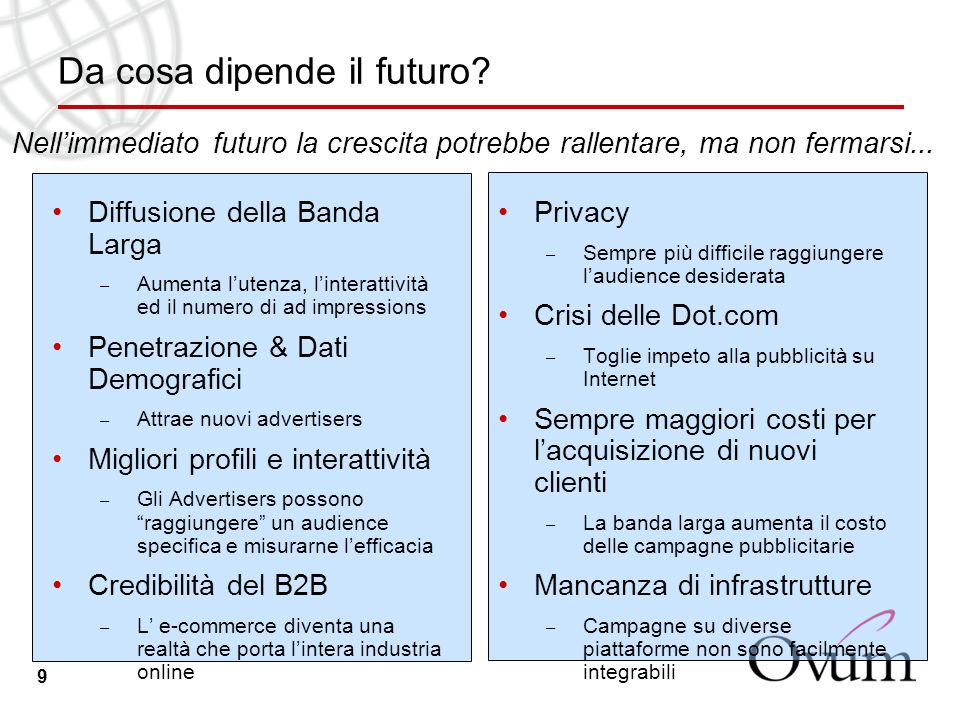 9 Da cosa dipende il futuro.