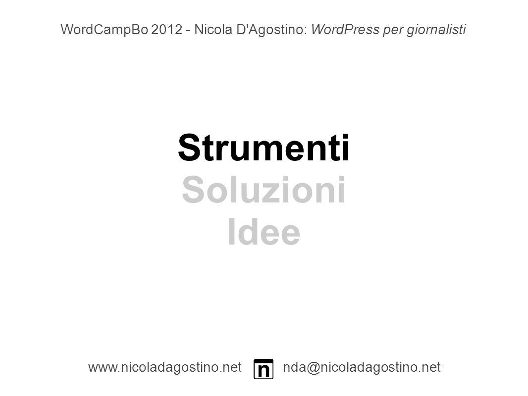 Posts Character Count Admin www.nicoladagostino.net nda@nicoladagostino.net Plugin per mostrare il numero di caratteri di un post sia nell admin che nel pannello di modifica WordCampBo 2012 - Nicola D Agostino: WordPress per giornalisti