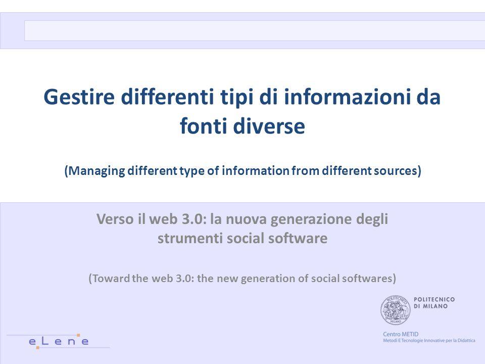 IL WEB 2.0 IN PROGETTI INTERNAZIONALI Introduzione: METID ed eLene 2/17
