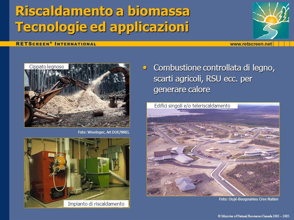 Riscaldamento a biomassa Tecnologie ed applicazioni Cippato legnoso Impianto di riscaldamento Edifici singoli e/o teleriscaldamento Foto: Wiseloger, A
