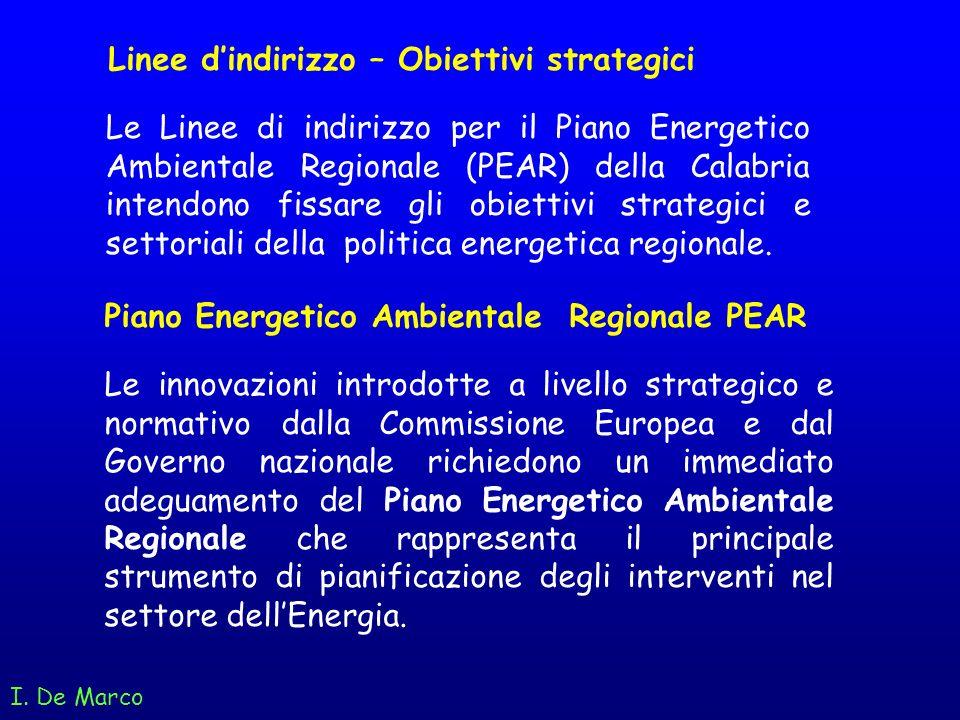 I. De Marco Le innovazioni introdotte a livello strategico e normativo dalla Commissione Europea e dal Governo nazionale richiedono un immediato adegu