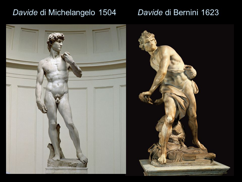 Davide di Michelangelo 1504Davide di Bernini 1623