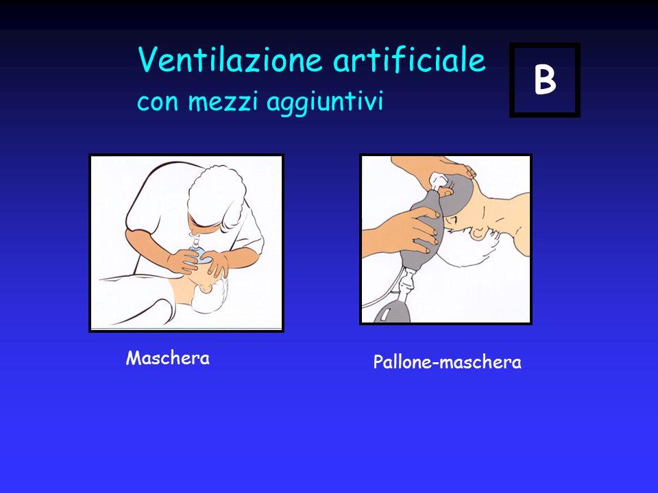 Ventilazione artificiale con mezzi aggiuntivi Maschera Pallone-maschera B