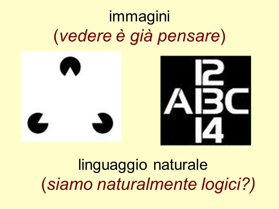 immagini (vedere è già pensare) linguaggio naturale (siamo naturalmente logici?)