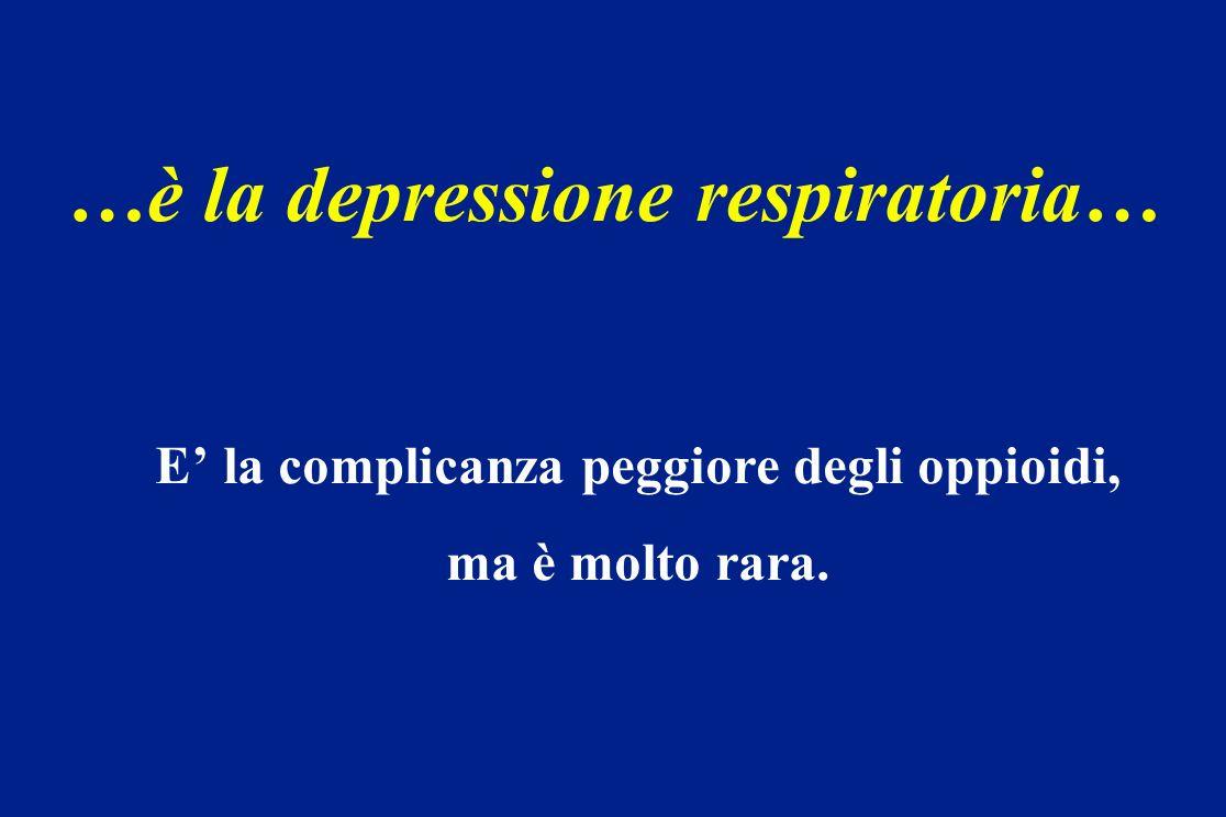 …è la depressione respiratoria… E la complicanza peggiore degli oppioidi, ma è molto rara.