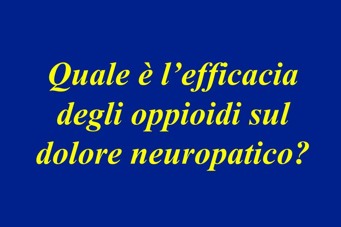 Quale è lefficacia degli oppioidi sul dolore neuropatico?