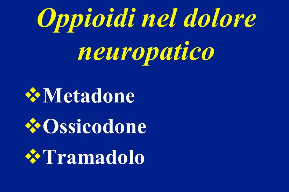 Oppioidi nel dolore neuropatico Metadone Ossicodone Tramadolo