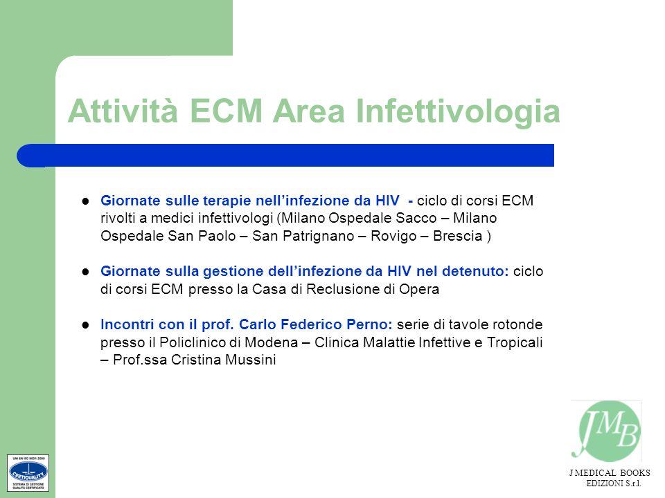 J MEDICAL BOOKS EDIZIONI S.r.l. Attività ECM Area Infettivologia Giornate sulle terapie nellinfezione da HIV - ciclo di corsi ECM rivolti a medici inf