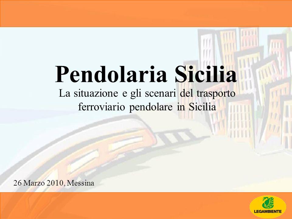 Pendolaria Sicilia La situazione e gli scenari del trasporto ferroviario pendolare in Sicilia 26 Marzo 2010, Messina