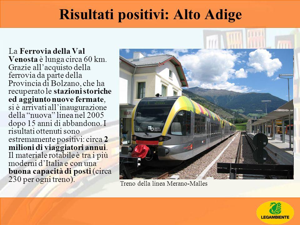 La Ferrovia della Val Venosta è lunga circa 60 km. Grazie allacquisto della ferrovia da parte della Provincia di Bolzano, che ha recuperato le stazion