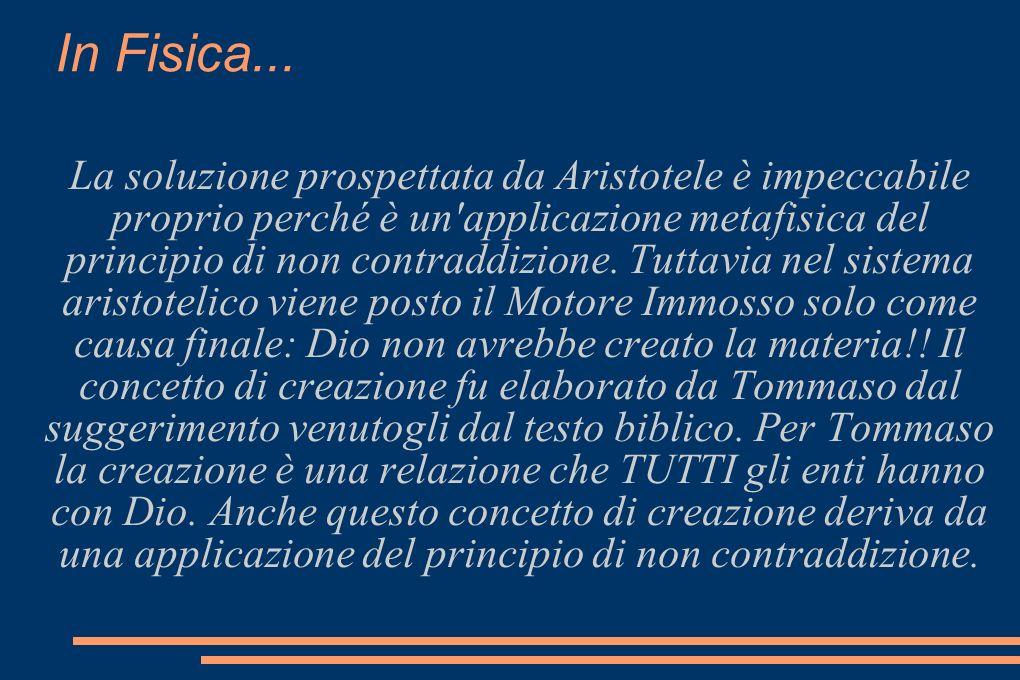 In Fisica... La soluzione prospettata da Aristotele è impeccabile proprio perché è un'applicazione metafisica del principio di non contraddizione. Tut