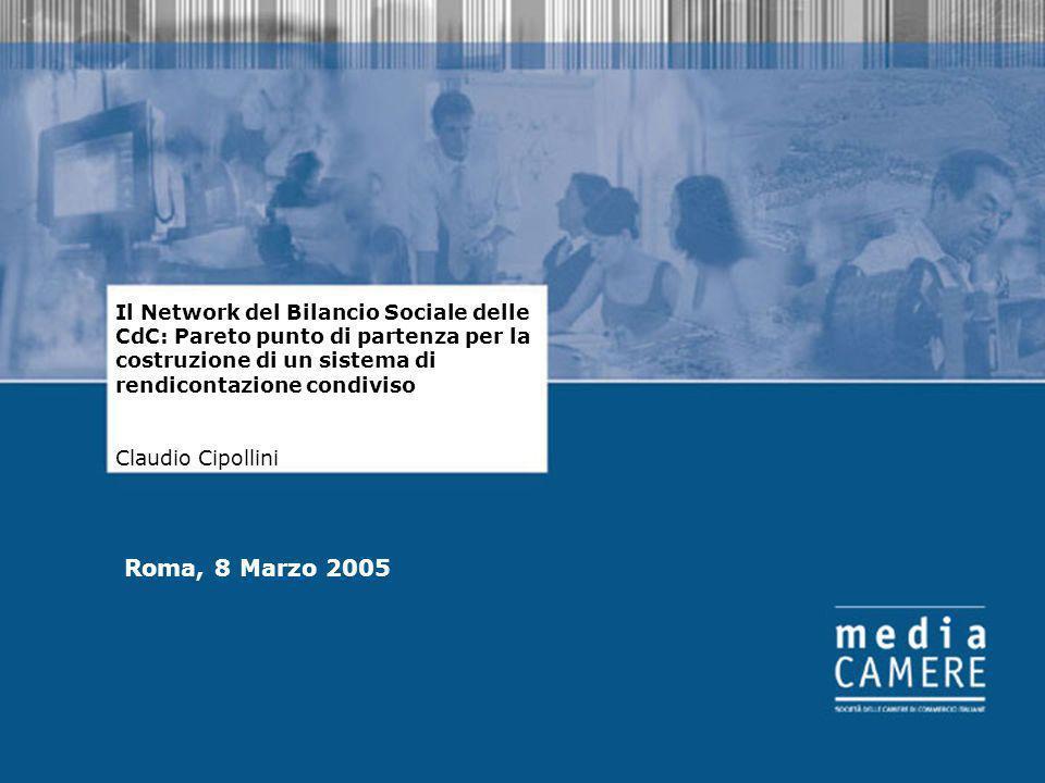 1 Il Network del Bilancio Sociale delle CdC: Pareto punto di partenza per la costruzione di un sistema di rendicontazione condiviso Claudio Cipollini