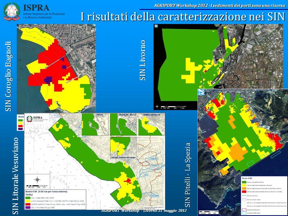 AGRIPORT Workshop - Livorno 31 maggio 2012 AGRIPORT Workshop 2012 - I sedimenti dei porti sono una risorsa I risultati della caratterizzazione nei SIN