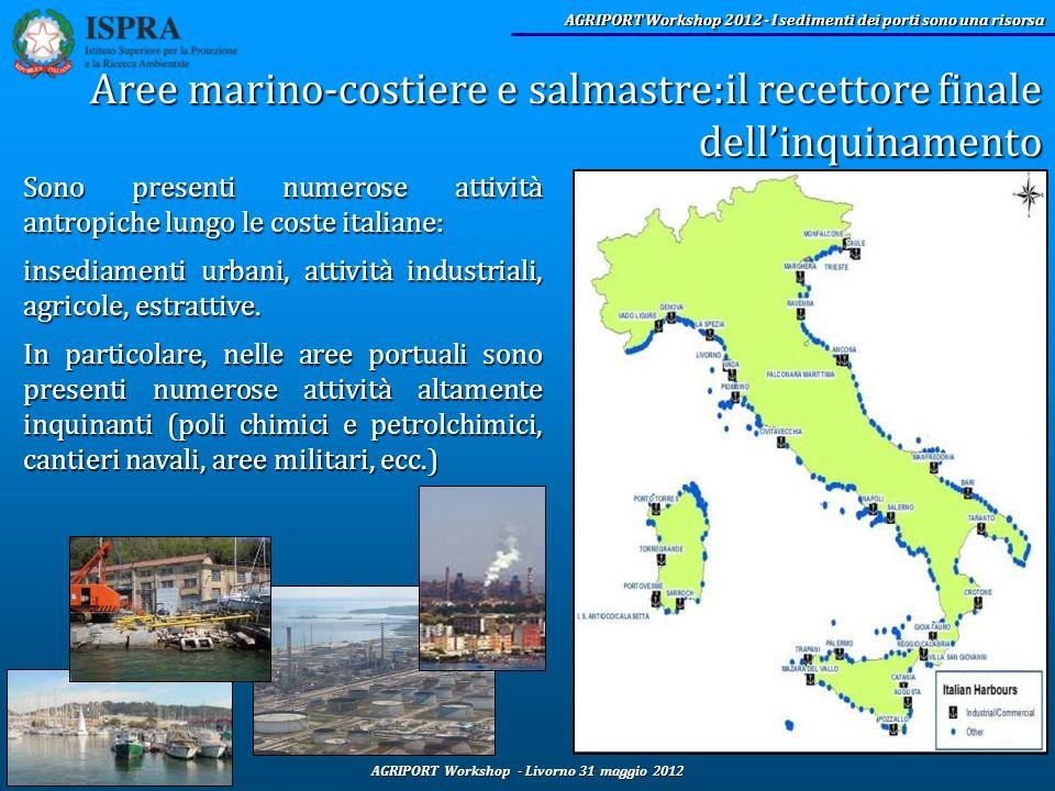 AGRIPORT Workshop - Livorno 31 maggio 2012 AGRIPORT Workshop 2012 - I sedimenti dei porti sono una risorsa Sono presenti numerose attività antropiche