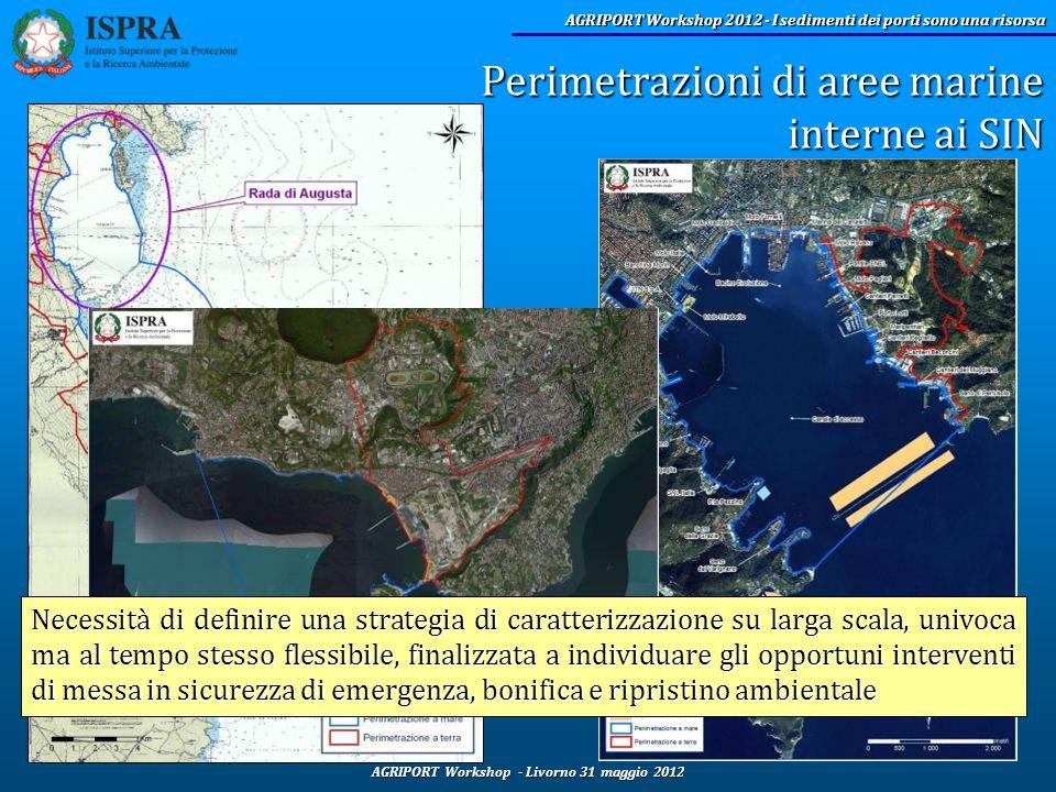 AGRIPORT Workshop - Livorno 31 maggio 2012 AGRIPORT Workshop 2012 - I sedimenti dei porti sono una risorsa Perimetrazioni di aree marine interne ai SI
