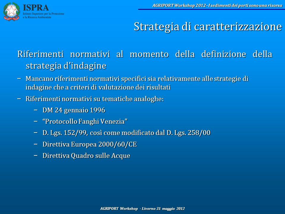 AGRIPORT Workshop - Livorno 31 maggio 2012 AGRIPORT Workshop 2012 - I sedimenti dei porti sono una risorsa Riferimenti normativi al momento della defi