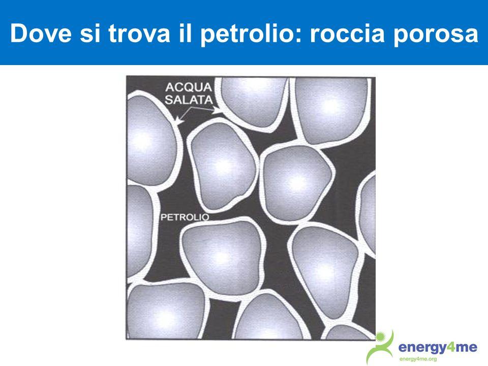 Dove si trova il petrolio: roccia porosa