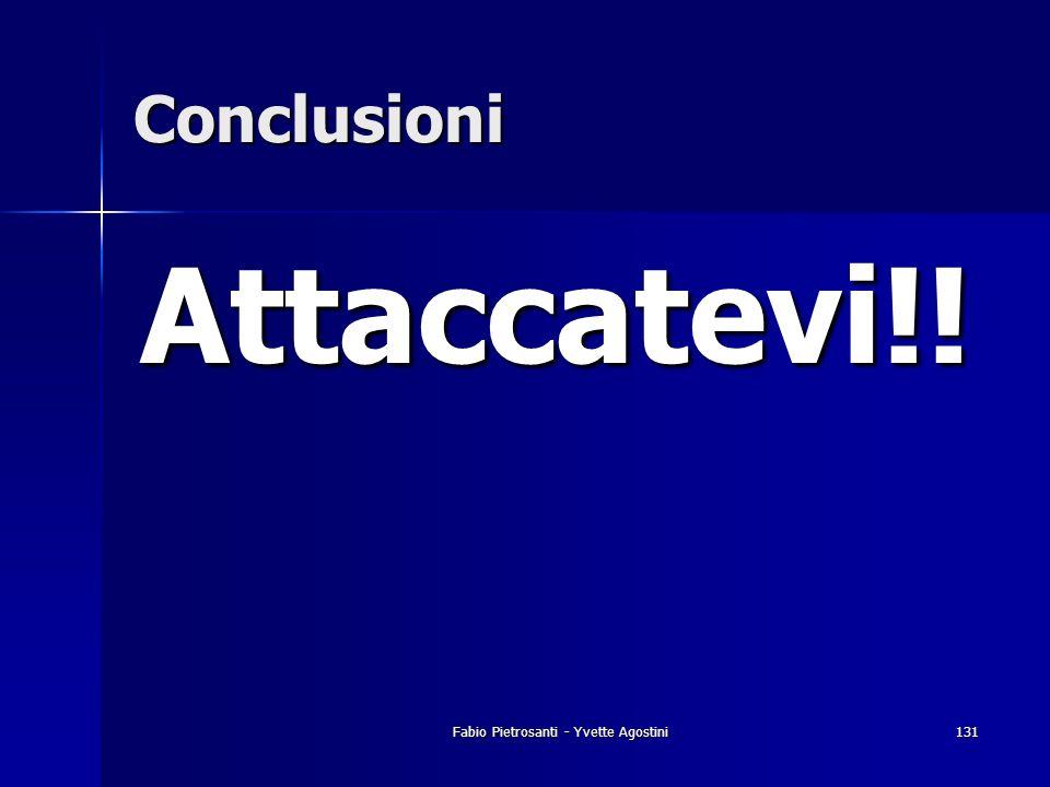 Fabio Pietrosanti - Yvette Agostini131 Conclusioni Attaccatevi!!