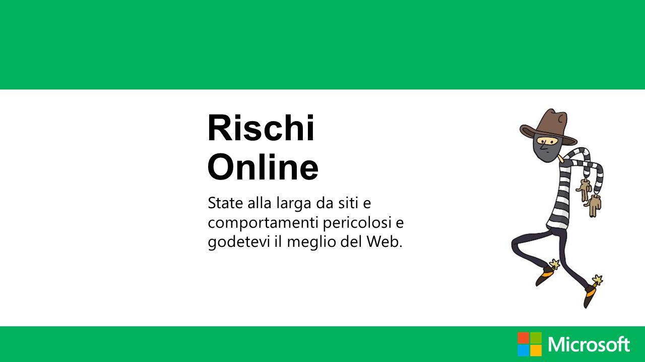 Rischi Online State alla larga da siti e comportamenti pericolosi e godetevi il meglio del Web.