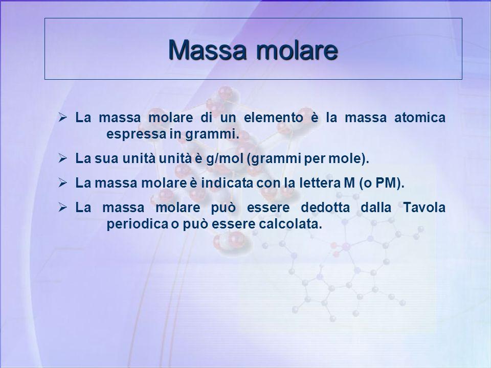 MONDO MICROSCOPICO Dal mondo microscopico a quello macroscopico MONDO MACROSCOPICO C + O 2 CO 2 C + O 2 CO 2 1 atomo 1 molecola 1 molecola MA =12 u MM