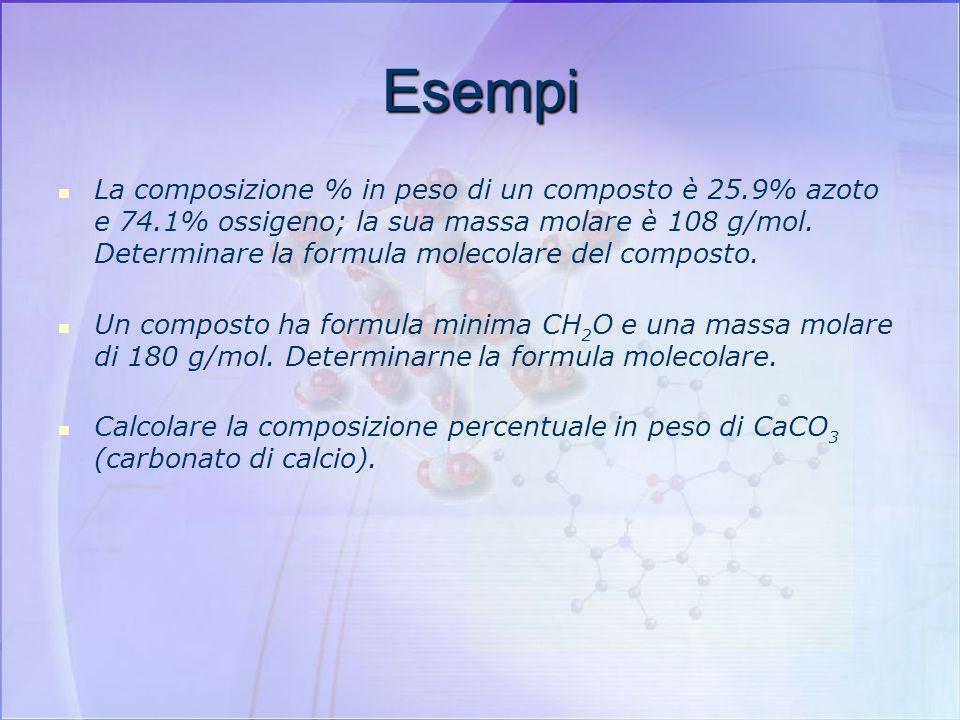 Come calcolare la composizione percentuale dalla formula molecolare Calcolare la composizione percentuale in peso dell'acido acetico (CH 3 COOH) In un