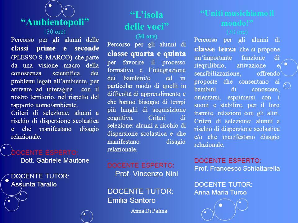 Ambientopoli (30 ore) Percorso per gli alunni delle classi prime e seconde (PLESSO S. MARCO ) che parte da una visione macro della conoscenza scientif