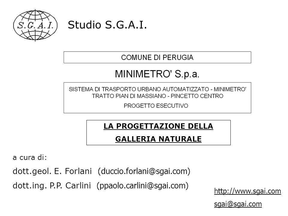 Studio S.G.A.I. a cura di: dott.geol. E. Forlani ( duccio.forlani@sgai.com) dott.ing. P.P. Carlini (ppaolo.carlini@sgai.com) http://www.sgai.com sgai@